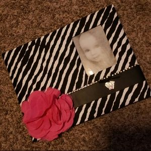 New in package zebra keepsake memory book.
